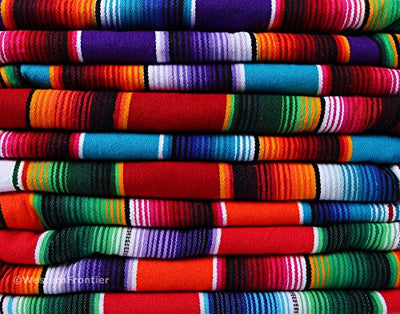 El Paso Designs Extra Large Mexican Saltillo Serape Blanket (Red)