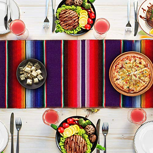 "2-Pack Mexican Serape Table Runner 14"" x 84"""