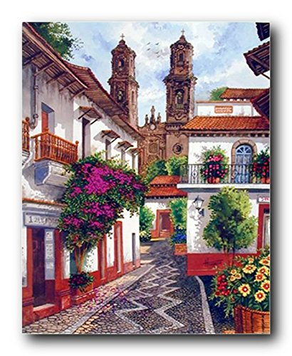Old Mexico City Horacio Robles Jr Wall Decor Art Print Poster (16x20)