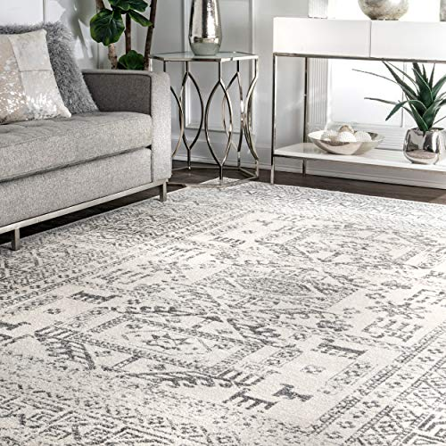 nuLOOM Marisela Tribal Area Rug, 8' x 10', Grey