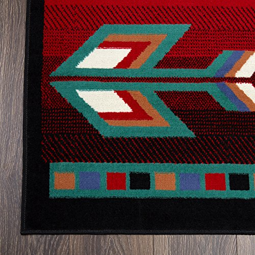 Rug with Aztec Design