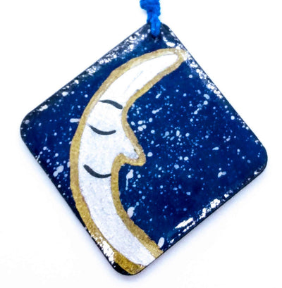 Necklace Moon (painted Hand)