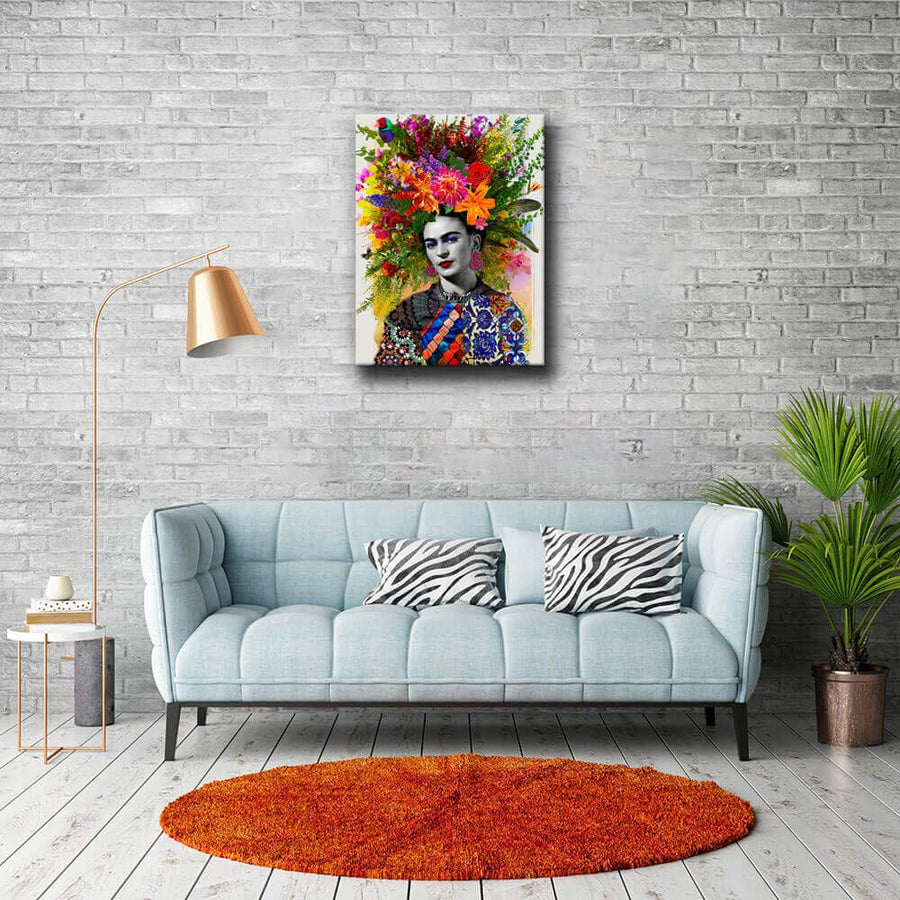 Frida Kahlo Ⅲ-Print Painting Canvas Artwork Ready to Hang for Home Bedroom Living Room Bathroom Kitchen Wall Decoration