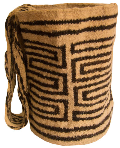Indigenous bag handmade by Iku tribe, Colombia 100% raw wool 8''x7.5''