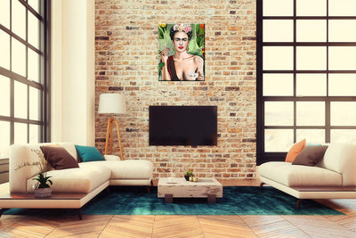 iFine Art Wall Art Inner-Framed Oil Paintings Printed on Canvas Modern Artwork for Home Decorations and Easy to Hang for Living Room, Bedroom-Frida Kahlo II