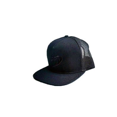 Hawaiian Fire Wave Mesh Hat - Black