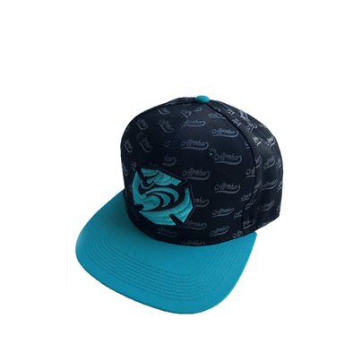 Hawaiian Fire 3d Maltese Wave Hat - Black/Mint