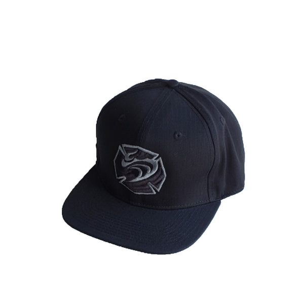 Hawaiian Fire 3d Maltese Wave Hat - Black