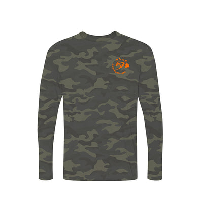 L/S Paddling Shirt Hawaiian Island Wave - Camo