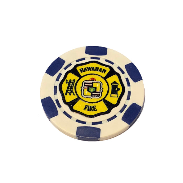 Golf Ball Poker Chip Marker - Blue