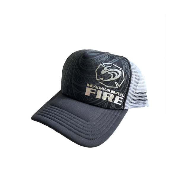 Hawaiian Fire Tribal Maltese Foil Trucker Hat
