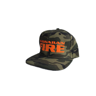 Hawaiian Fire Stacked Baseball Hat - Camouflage