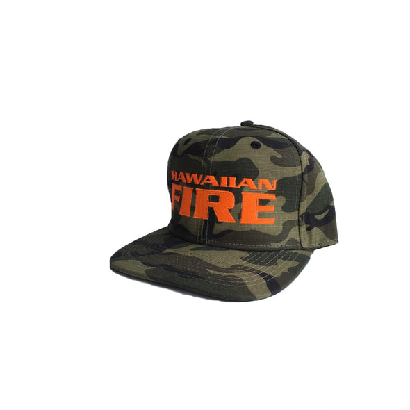 Hawaiian Fire Stacked Hat - Camouflage