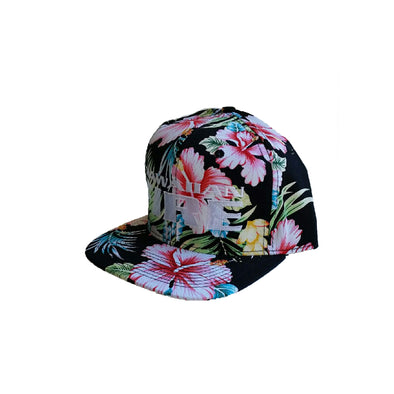 Hawaiian Fire Stacked Papale Floral Cap