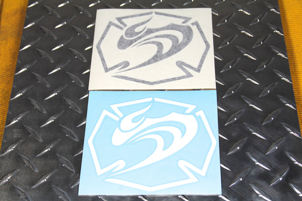 HF Die-cut Maltese logo stickers