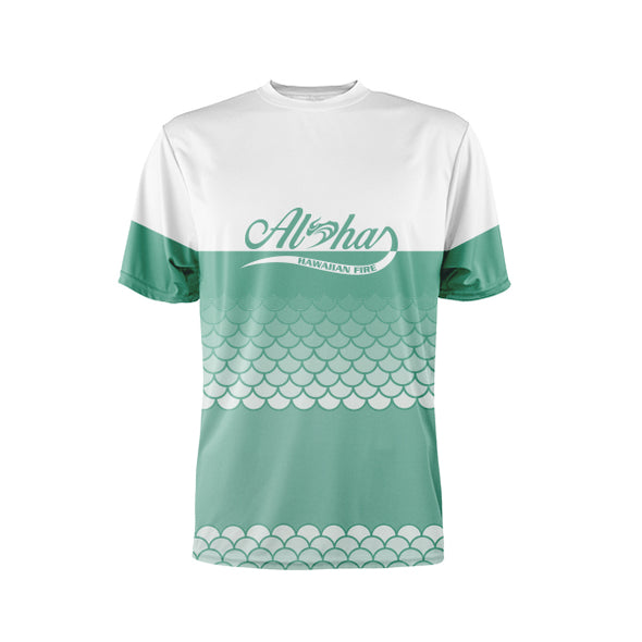 Womens S/S Paddling Shirt Aloha Flow Mermaid - Mint