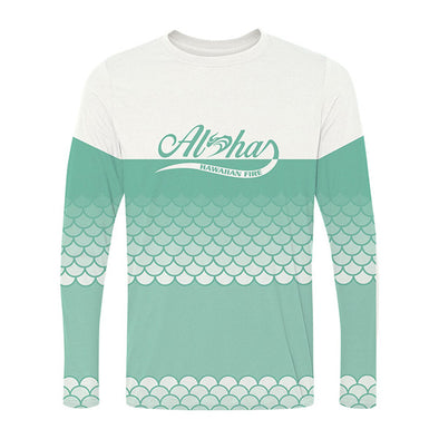 Womens L/S Paddling Shirt Aloha Flow Mermaid - Mint