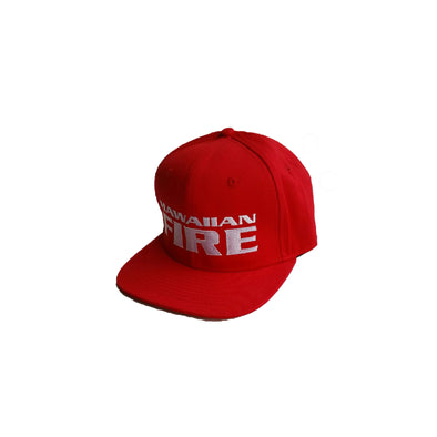 Hawaiian Fire Stacked Baseball Hat - Red