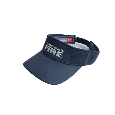 Hawaiian Fire Stacked Visor - Black/Silver