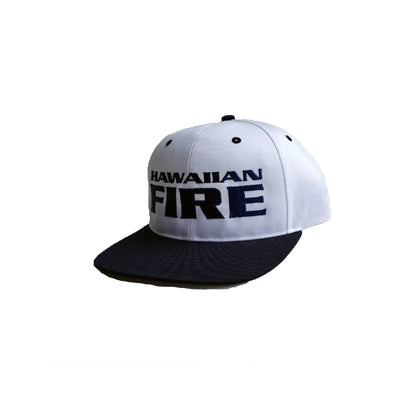 Hawaiian Fire Stacked Baseball Hat - White/Navy