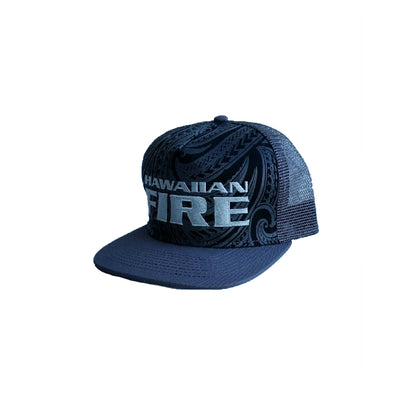 Hawaiian Fire Stacked Tribal Cap