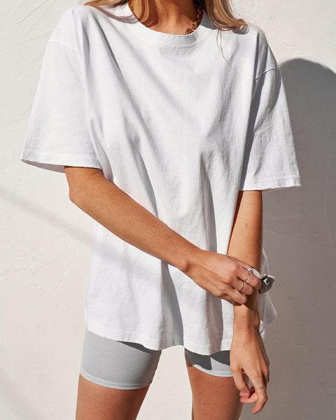 BOYFRIEND T-SHIRT -WHITE