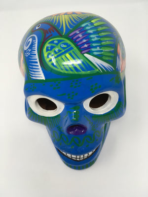 Open image in slideshow, Day of the dead hand painted skull