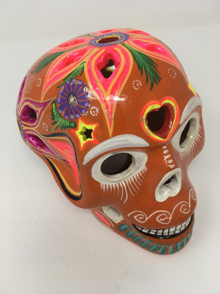 Day of the dead hand painted skull