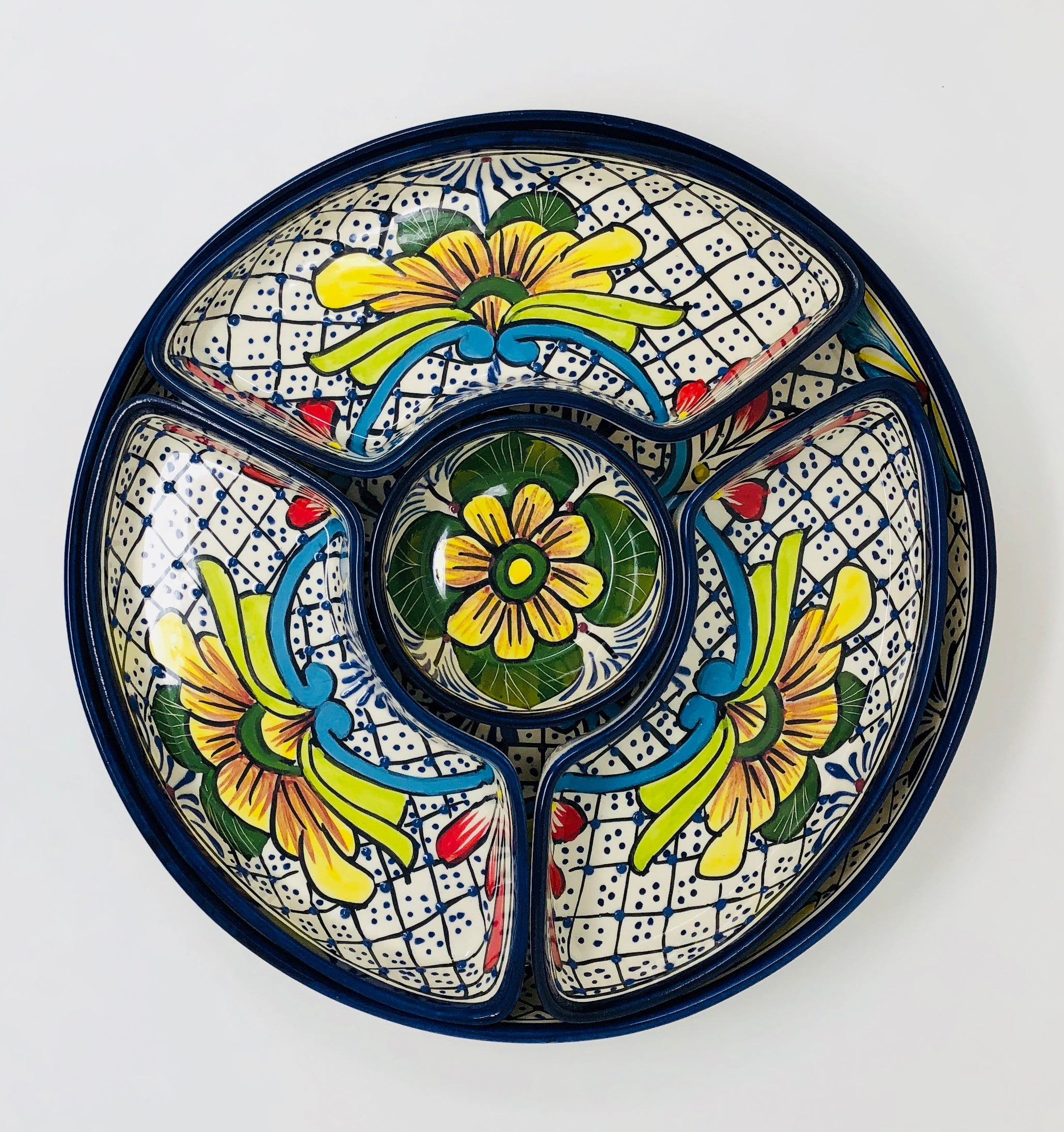 Talavera 5 Piece Serving Tray