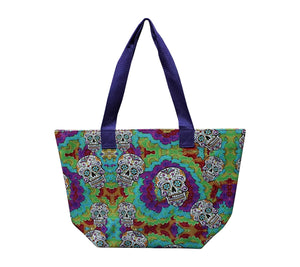Open image in slideshow, Multi-Colored Sugar Skull Tote