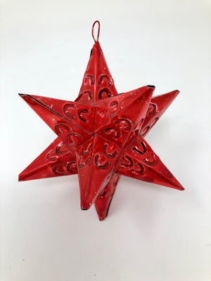 Open image in slideshow, Mexican Tin Star Ornament
