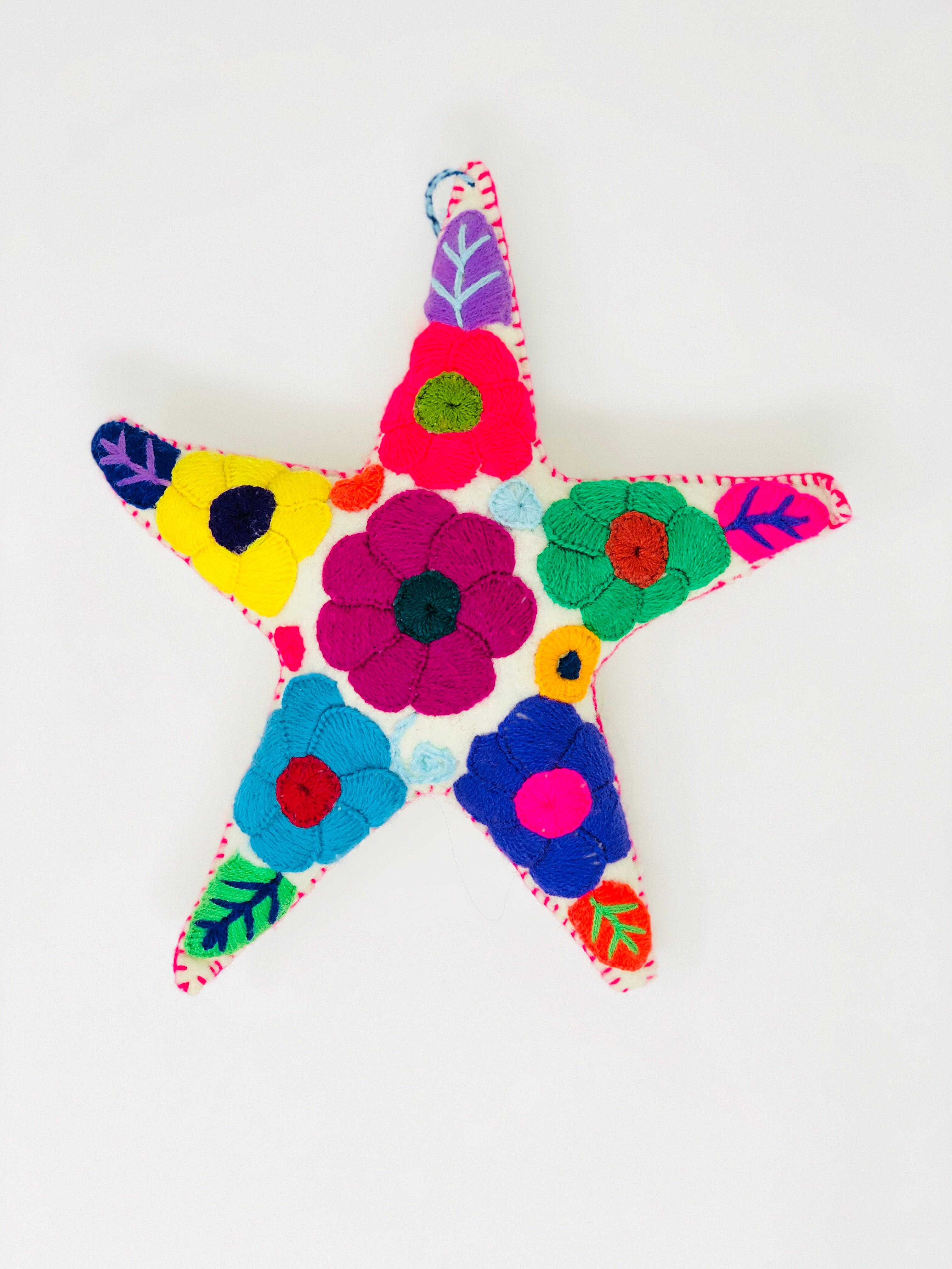 Embroidered Star Tree Topper