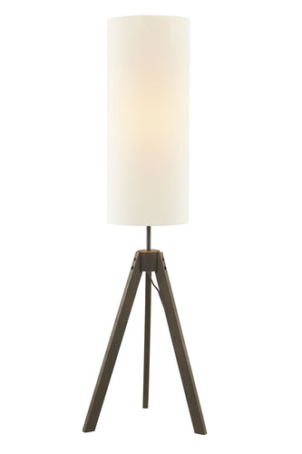 56'' Floor Lamp black Stained Wood