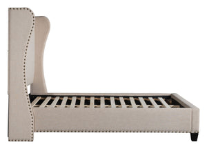 Atlantis King Platform Bed - Beige Linen