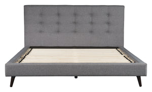 Cali King Platform Bed - Grey Linen
