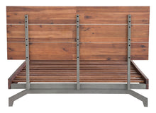 Load image into Gallery viewer, Belgium Queen Platform Bed - Chestnut Finish