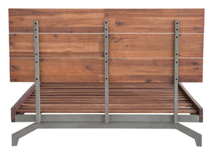 Belgium Queen Platform Bed - Chestnut Finish