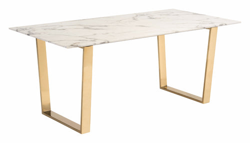 Dining Table Stone & Gold