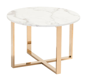 End Table Stone & Gold