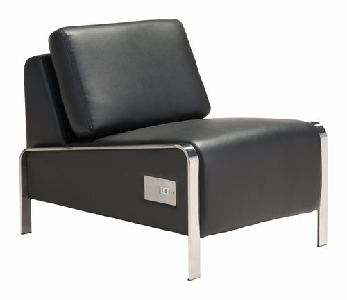 Armless Chair Black
