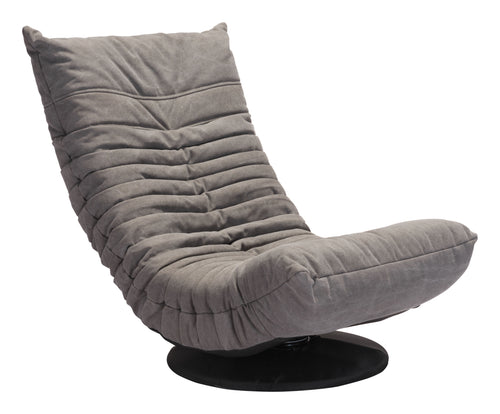 Low Swivel Chair Gray