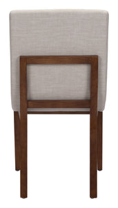 Dining Chair Beige (Set of 2)