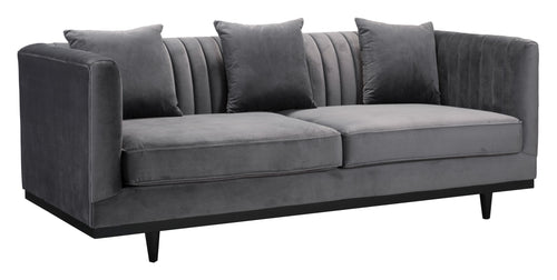 Garland Sofa - Grey Velvet