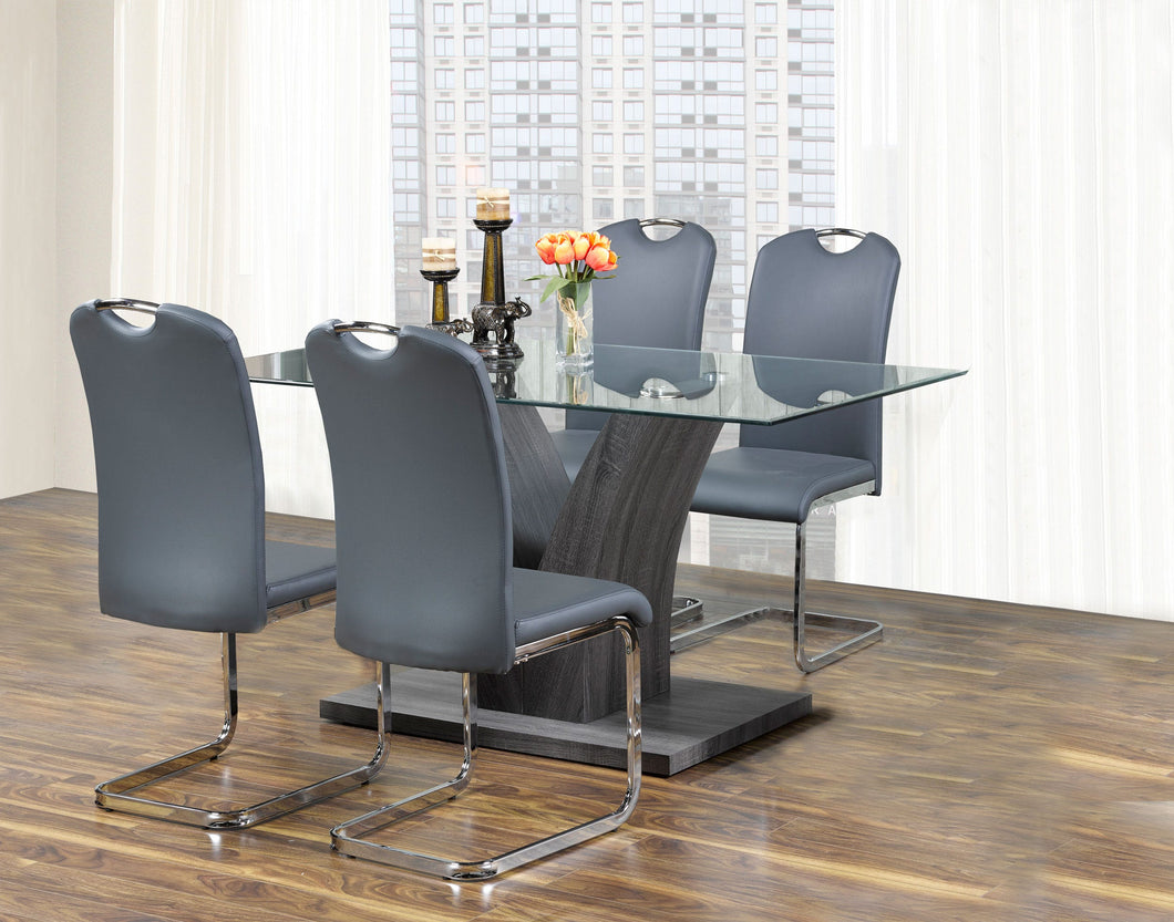 Lorie 5PC Dining Set - Grey