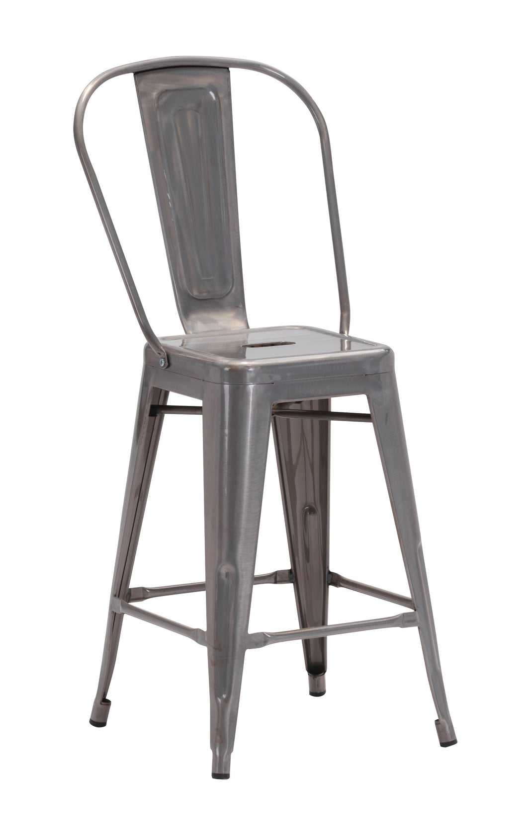 Counter Chair Gunmetal (Set of 2)