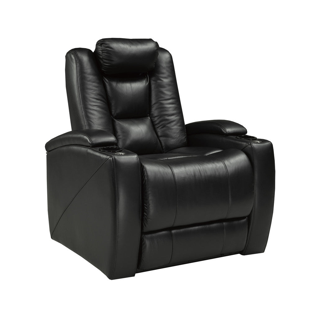 Genuine Leather Power Recliner with Coolers | Candace and Basil Furniture