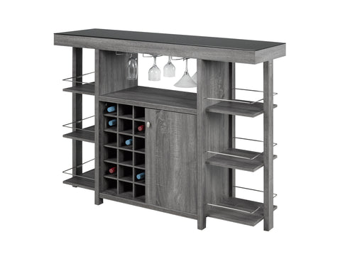Martini Bar Unit - Dark Grey | Candace and Basil Furniture
