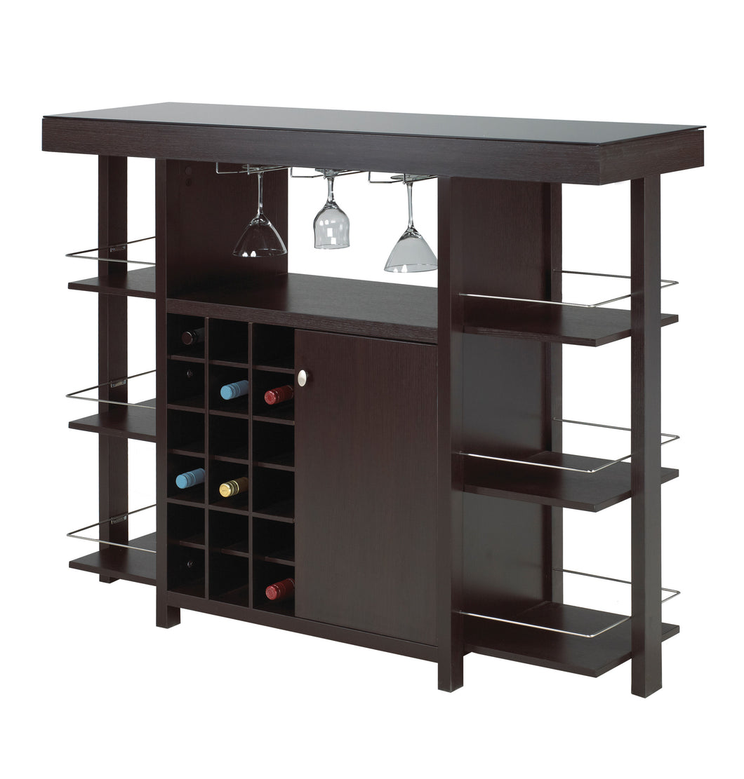 Martini Bar Unit - Dark Cherry | Candace and Basil Furniture