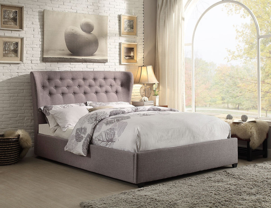 Atlantic King Bed Frame - Grey Linen