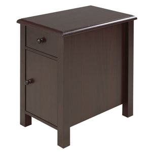 "Oliver Accent Table, 24""L, Dark Cherry 